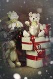 Filialer av jul för en sörjakotte Royaltyfria Bilder