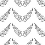 Filialer av oliv, symbol av segern, vektorillustration, linje kontur seamless modell stock illustrationer