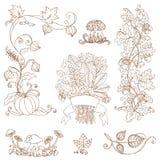 Filiali decorative di autunno - per l'album per ritagli Fotografia Stock Libera da Diritti