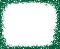 Filiali del pino di natale e blocco per grafici del fiocco di neve Immagine Stock