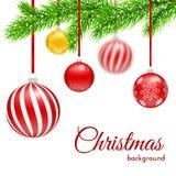 Filiali dell'albero di Natale Fotografia Stock Libera da Diritti