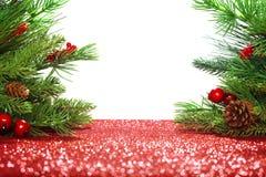 Filiali dell'albero di Natale Fotografie Stock Libere da Diritti