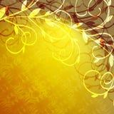 Filiali e priorità bassa gialla Immagine Stock
