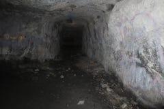Filialtunnel inre Rocky Mountain Vaults och arkivlätthet Arkivfoto