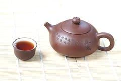 Filiżanka herbata z teapot Fotografia Stock