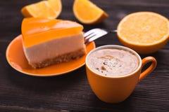 Filiżanka z cheesecake Fotografia Royalty Free