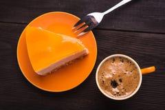 Filiżanka z cheesecake Obrazy Stock