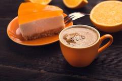 Filiżanka z cheesecake Obraz Stock