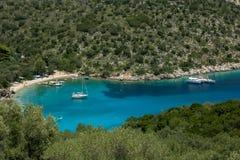 Filiatro bay and beach on Greek island Ithaca royalty free stock photos
