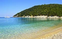 Filiatro beach in Ithaca island Greece Royalty Free Stock Photo