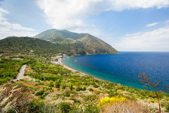 Filicudi island coastline. royalty free stock photography