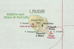 Filicudi. The island of Sicily, Lipari, Italy stock photo