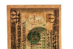 Filigrana en 10 dólares de billetes de banco Fotografía de archivo libre de regalías