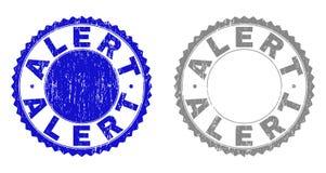 Filigranas riscadas ALERTAS Textured com fita ilustração do vetor