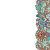 Filigrane de carte de Mehendi fait main, humeur naturelle Photos libres de droits