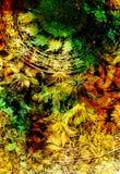 Filigrane floral ornament on cosmic backgrond, computer collage. Filigrane floral ornament on cosmic backgrond, computer collage Stock Image
