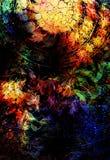 Filigrane floral ornament on cosmic backgrond, computer collage. Filigrane floral ornament on cosmic backgrond, computer collage Stock Photography