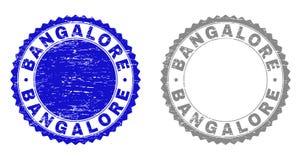 Filigranes grunges texturisés de BANGALORE illustration stock