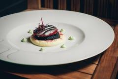Filigranowi kęsy z białym asparagusem Zdjęcia Royalty Free