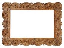 Filigree ξύλινο πλαίσιο εικόνων Στοκ φωτογραφία με δικαίωμα ελεύθερης χρήσης