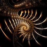 Filigree. Abstract fractal image resembling spiraling filigree Royalty Free Stock Photo