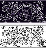 filigree blomma för kant Royaltyfri Illustrationer