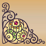 Filigree corner background Stock Photography