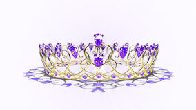 Filigree Crown - Amethyst Stock Photos