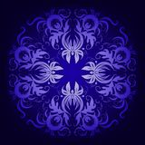 Filigree damask background with lace ornament. Filigree damask background with lace blue ornament royalty free illustration