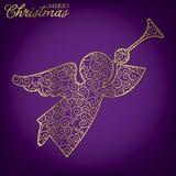Filigree Decoration Card. Elegant filigree Christmas card in vector format Stock Photo