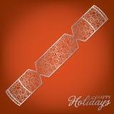 Filigree Decoration Card. Elegant filigree Christmas card in vector format Royalty Free Stock Photos