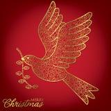 Filigree Decoration Card. Elegant filigree Christmas card in vector format Royalty Free Stock Images