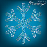 Filigree Decoration Card. Elegant filigree Christmas card in vector format stock illustration