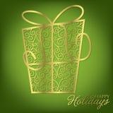 Filigree Decoration Card. Elegant filigree Christmas card in vector format vector illustration