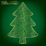 Filigree Decoration Card. Elegant filigree Christmas card in vector format Stock Photography