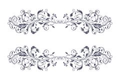 Filigree dividers. Floral vintage decorative ornaments. Vector illustration isolated on white background Royalty Free Stock Photo
