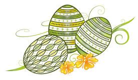 Filigree easter eggs. With flowers, spring time Royalty Free Stock Images