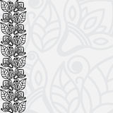Filigree floral background. Black And White Filigree Floral Background Stock Image