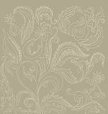 Filigree  floral oriental pattern Royalty Free Stock Photography
