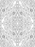 Filigree floral pattern. Royalty Free Stock Photo