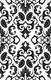Filigree floral pattern. Vector floral pattern. Abstract filigree ornament. Black and white template Royalty Free Stock Image