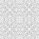 Filigree floral pattern. Floral vector pattern. Seamless filigree ornament. Black and white template for wallpaper, textile, shawl, carpet Stock Image