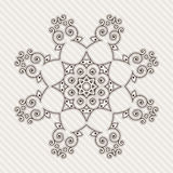 Filigree Flower Henna Pattern. In Contrasting Colors Royalty Free Stock Image
