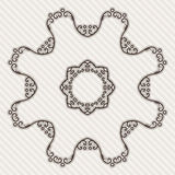 Filigree Flower Henna Pattern. In Contrasting Colors Stock Image