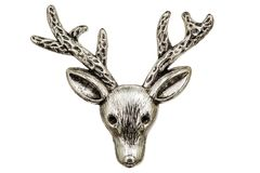 Filigree in the form of a deer's head, decorative element for ma. Filigree in the form of a deer's head, decorative element for manual work Stock Photo
