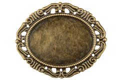 Filigree in the form of a frame, decorative element for manual w. Ork, isolated on white, with clipping path Stock Photo