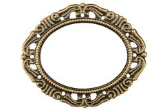 Filigree in the form of a frame, decorative element for manual w Stock Images