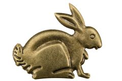Filigree in the form of a profile of a hare, decorative element Royalty Free Stock Images