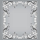 Filigree frame with sketch doodles ornaments Royalty Free Stock Photo