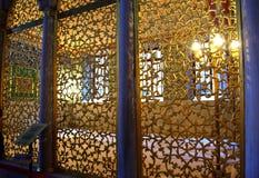 Filigree gilded wall Hagia Sophia Stock Photos